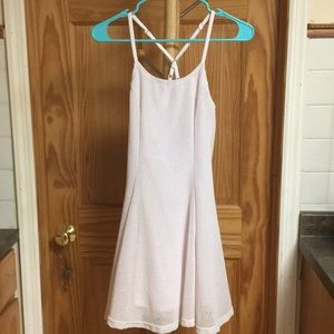 white open racerback dress